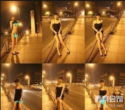 上海闹市裸拍门女子三点全露